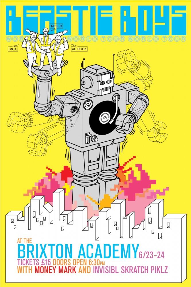 Beastie boys brixton academy poster 187 mike mills film art